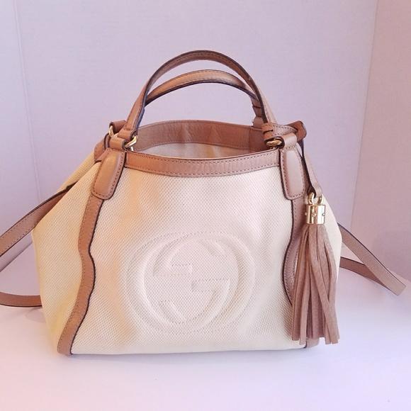 f92042cc821 Gucci Bags   Soho Convertible Canvas Shoulder Tote Bag   Poshmark